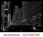 city of toronto architecture in ...   Shutterstock .eps vector #1227242752
