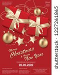 merry christmas   happy new... | Shutterstock .eps vector #1227261865