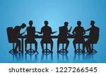vector illustration. team... | Shutterstock .eps vector #1227266545