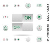 on and off buttons colored icon....