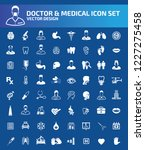 doctor and medical vector icon... | Shutterstock .eps vector #1227275458