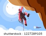 mountain climber with special... | Shutterstock .eps vector #1227289105
