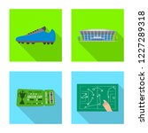 isolated object of soccer and... | Shutterstock .eps vector #1227289318