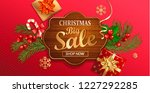 christmas big sale banner for... | Shutterstock .eps vector #1227292285