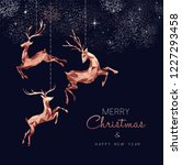 merry christmas and happy new... | Shutterstock .eps vector #1227293458