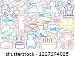 hand drawn vector illustrations ... | Shutterstock .eps vector #1227294025