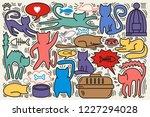 hand drawn vector illustrations ... | Shutterstock .eps vector #1227294028
