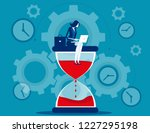 time management. businesswoman... | Shutterstock .eps vector #1227295198