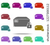 lock box icon. elements of... | Shutterstock .eps vector #1227300112