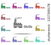 trucks and plant icon. elements ... | Shutterstock .eps vector #1227300178