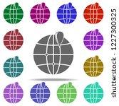 dot on the globe of dot on the... | Shutterstock .eps vector #1227300325