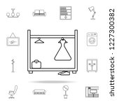 wardrobe icon. furniture icons... | Shutterstock .eps vector #1227300382