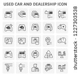 used car and dealership icon... | Shutterstock .eps vector #1227303538
