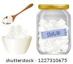 cube sugar on white background... | Shutterstock .eps vector #1227310675