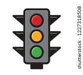 isolated traffic light vector...   Shutterstock .eps vector #1227318508