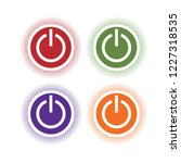 colorful turn off icon... | Shutterstock .eps vector #1227318535