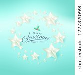 merry christmas and happy new... | Shutterstock .eps vector #1227320998