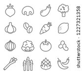 vegetable ingredients line icon ... | Shutterstock .eps vector #1227321358