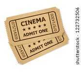 two retro cinema tickets.... | Shutterstock .eps vector #122732506