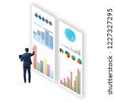 concept of business charts and... | Shutterstock . vector #1227327295
