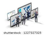 concept of business charts and... | Shutterstock . vector #1227327325