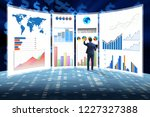 concept of business charts and... | Shutterstock . vector #1227327388