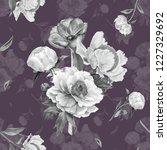 romantic retro seamless pattern ... | Shutterstock . vector #1227329692