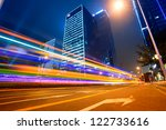 the city and the road at night | Shutterstock . vector #122733616