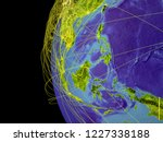 south east asia from space on... | Shutterstock . vector #1227338188