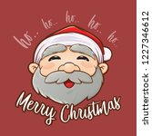 merry christmas greetings with... | Shutterstock .eps vector #1227346612