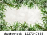 twigs of christmas tree and... | Shutterstock . vector #1227347668