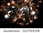 silver and copper metal curved... | Shutterstock . vector #1227355198