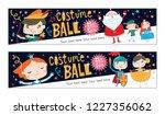 costume ball invitations.... | Shutterstock .eps vector #1227356062
