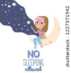pajama party poster with fun... | Shutterstock .eps vector #1227371542