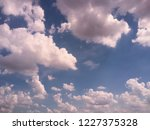 view of cloudscape with fluffy... | Shutterstock . vector #1227375328