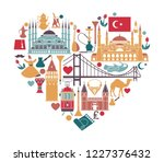 set of country turkey culture... | Shutterstock .eps vector #1227376432