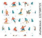 seamless pattern. on white... | Shutterstock .eps vector #1227389725