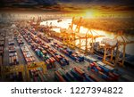 logistics and transportation of ... | Shutterstock . vector #1227394822