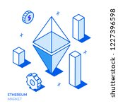isometric ethereum investment... | Shutterstock . vector #1227396598