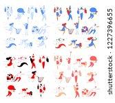 modern cartoon flat characters... | Shutterstock . vector #1227396655