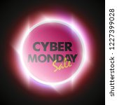 cyber monday sale circle banner.... | Shutterstock .eps vector #1227399028