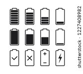 black outline battery charge...