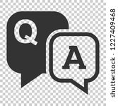question and answer icon in... | Shutterstock .eps vector #1227409468