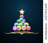 vector christmas tree with bingo | Shutterstock .eps vector #1227411145