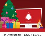 geek happy new year and... | Shutterstock .eps vector #1227411712