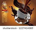 design of advertising coffee... | Shutterstock .eps vector #1227414385