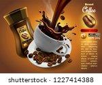 design of advertising coffee... | Shutterstock .eps vector #1227414388