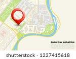 city map navigation  color... | Shutterstock .eps vector #1227415618