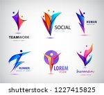 vector set of human  man logos. ... | Shutterstock .eps vector #1227415825
