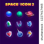 set of cartoon planets and... | Shutterstock .eps vector #1227417445